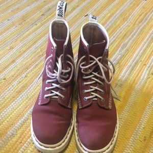 Red and White Dr. Martens, Size 7